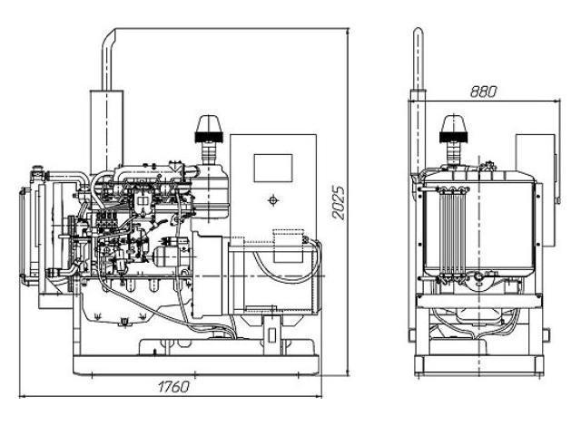 Дизельный генератор АД-30 электростанция ДЭС ДГУ