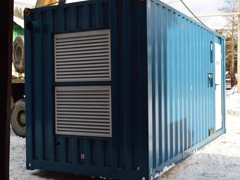 Caterpillar дизельные электростанции в блок контейнерах типа Север