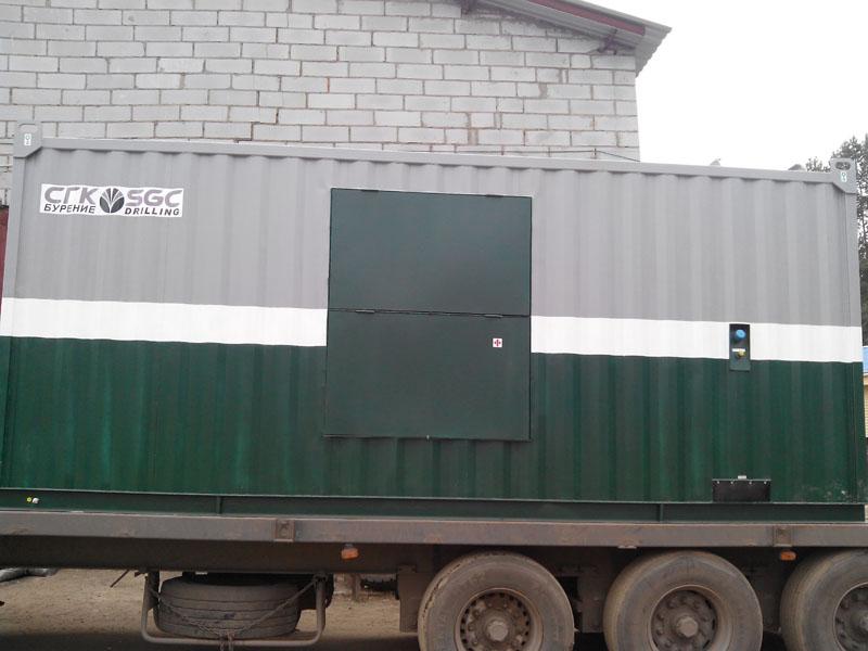 Дизельная электростанция Caterpillar мощностью 360 кВт в контейнере Север Салехард